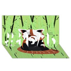 Red Panda Bamboo Firefox Animal #1 Dad 3d Greeting Card (8x4) by AnjaniArt