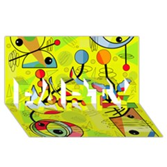 Happy Day   Yellow Party 3d Greeting Card (8x4)
