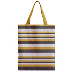 Textile Design Knit Tan White Zipper Classic Tote Bag by AnjaniArt