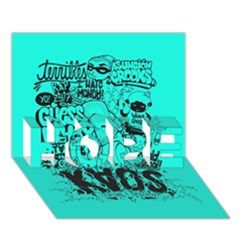 Typography Illustration Chaos Hope 3d Greeting Card (7x5) by AnjaniArt