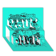 Typography Illustration Chaos You Did It 3d Greeting Card (7x5)