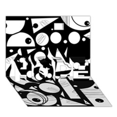 Happy Day   Black And White Hope 3d Greeting Card (7x5)