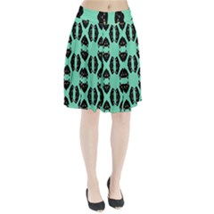 Black Cat Face Pattern Pleated Skirt by RanmasterCraft