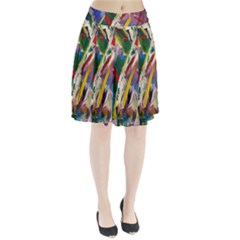 Abstract Art Artwork Colorful Pleated Skirt by Zeze