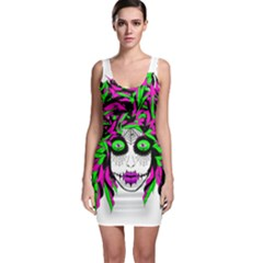 Spidie Lady Sugar Skull Sleeveless Bodycon Dress by burpdesignsA