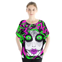 Spidie Lady sugar skull Blouse by burpdesignsA