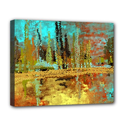 Autumn Landscape Impressionistic Design Deluxe Canvas 20  X 16   by theunrulyartist