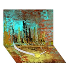 Autumn Landscape Impressionistic Design Heart Bottom 3d Greeting Card (7x5) by theunrulyartist