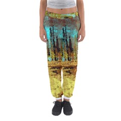 Autumn Landscape Impressionistic Design Women s Jogger Sweatpants by theunrulyartist