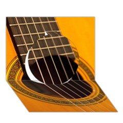 Vintage Guitar Acustic Circle 3d Greeting Card (7x5) by AnjaniArt