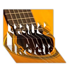 Vintage Guitar Acustic You Rock 3d Greeting Card (7x5) by AnjaniArt