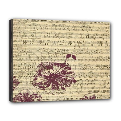 Vintage Music Sheet Song Musical Canvas 14  X 11  by AnjaniArt