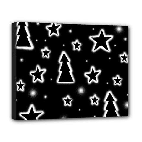 Black And White Xmas Deluxe Canvas 20  X 16   by Valentinaart