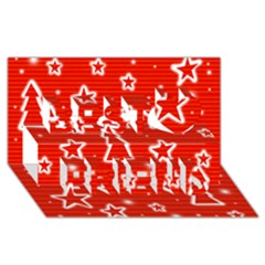 Red Xmas Best Friends 3D Greeting Card (8x4)