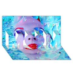 Swimming Into The Blue Mom 3d Greeting Card (8x4) by icarusismartdesigns