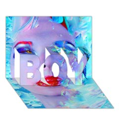 Swimming Into The Blue Boy 3d Greeting Card (7x5) by icarusismartdesigns