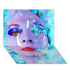Swimming Into The Blue Apple 3d Greeting Card (7x5) by icarusismartdesigns