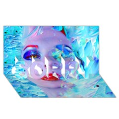 Swimming Into The Blue Sorry 3d Greeting Card (8x4) by icarusismartdesigns