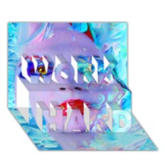 Swimming Into The Blue Work Hard 3d Greeting Card (7x5) by icarusismartdesigns