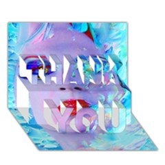 Swimming Into The Blue Thank You 3d Greeting Card (7x5) by icarusismartdesigns