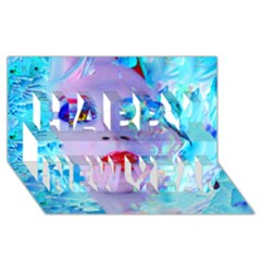 Swimming Into The Blue Happy New Year 3d Greeting Card (8x4) by icarusismartdesigns