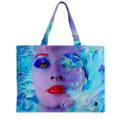 Swimming Into The Blue Medium Tote Bag by icarusismartdesigns