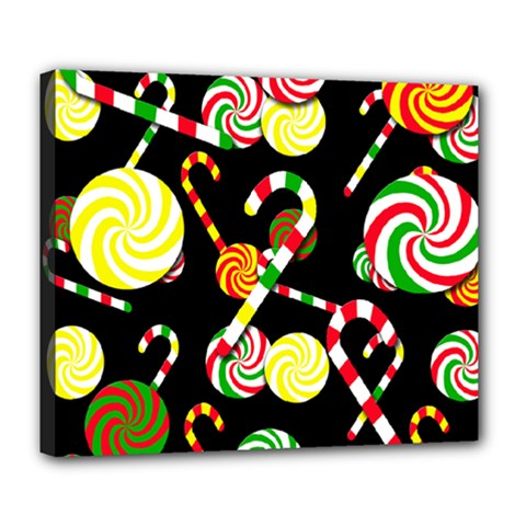 Xmas Candies  Deluxe Canvas 24  X 20   by Valentinaart