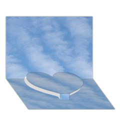 Wavy Clouds Heart Bottom 3d Greeting Card (7x5) by GiftsbyNature