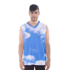 Clouds and blue sky Men s Basketball Tank Top by picsaspassion