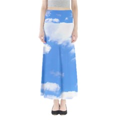 Clouds and blue sky Maxi Skirts by picsaspassion