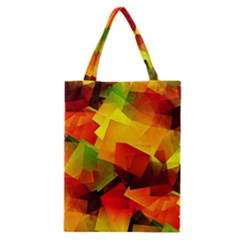 Indian Summer Cubes Classic Tote Bag by designworld65