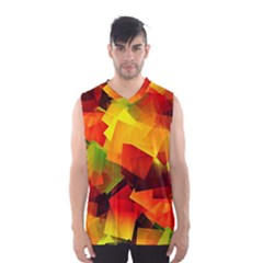 Indian Summer Cubes Men s Basketball Tank Top by designworld65