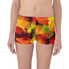 Indian Summer Cubes Reversible Boyleg Bikini Bottoms by designworld65