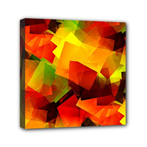 Indian Summer Cubes Mini Canvas 6  X 6  by designworld65