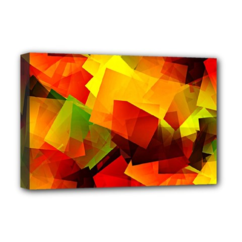 Indian Summer Cubes Deluxe Canvas 18  X 12   by designworld65
