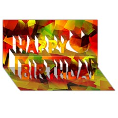 Indian Summer Cubes Happy Birthday 3d Greeting Card (8x4) by designworld65