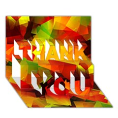 Indian Summer Cubes Thank You 3d Greeting Card (7x5) by designworld65
