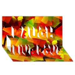 Indian Summer Cubes Laugh Live Love 3d Greeting Card (8x4) by designworld65