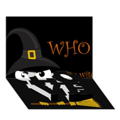 Who Is A Witch? Love Bottom 3d Greeting Card (7x5) by Valentinaart