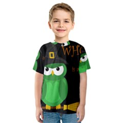 Who Is A Witch?   Green Kids  Sport Mesh Tee by Valentinaart