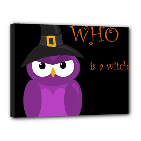 Who Is A Witch?   Purple Canvas 16  X 12  by Valentinaart