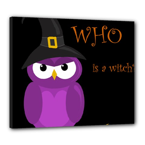 Who Is A Witch?   Purple Canvas 24  X 20  by Valentinaart