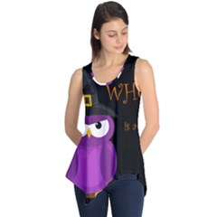 Who Is A Witch?   Purple Sleeveless Tunic by Valentinaart