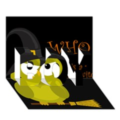 Who Is A Witch?   Yellow Boy 3d Greeting Card (7x5) by Valentinaart