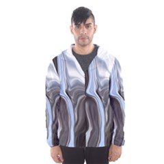Metallic And Chrome Hooded Wind Breaker (men) by theunrulyartist