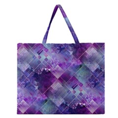 Marbleized Amethyst Zipper Large Tote Bag by KirstenStar