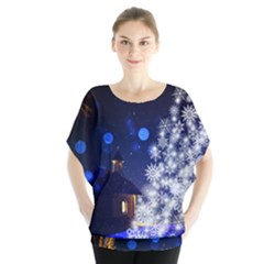 Christmas Card Christmas Atmosphere Blouse by Zeze
