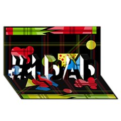 Playful Day #1 Dad 3d Greeting Card (8x4)