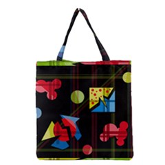 Playful Day Grocery Tote Bag by Valentinaart