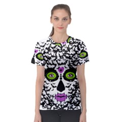 BAT LADY SUGAR SKULL Women s Sport Mesh Tee by burpdesignsA
